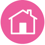 Icon image to show an image of a house