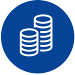 icon image to show two stacks of coins side by side